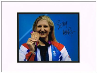 Rebecca Adlington Authentic Autograph Signed Photo Swimming